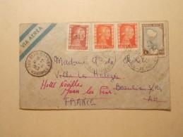 Marcophilie - Lettre Enveloppe Cachet Oblitération Timbres - ARGENTINE - 1953 (221) - Argentina