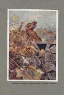 Charge Des Lanciers Anglais Pendant La Retraite De Mons - Army & War