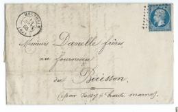 LETTRE 20 C EMPIRE  MOLSHEIM  A  BUISSON   GC - 1849-1876: Période Classique