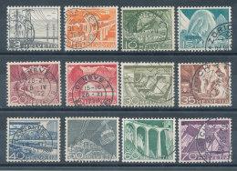 Suisse  N°481 à 492 Techniques Et Paysages - Usati