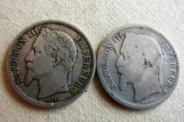 2 X 1 Franc 1868  Variété Lettre Atelier  Grand BB Et Petit BB - Francia