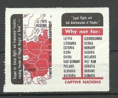 ESTLAND Estonia Baltic States In Exile Ca 1980 Anti Communist Poster Stamps In Pair MNH - Estonia