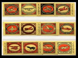 Russia Soviet Union 1975 Machbox Labels Flugzeuge Air Planes Zündholzschachteletiketten - Zündholzschachteletiketten