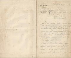 SAINT LO DIRECTION DES HARAS DEPOT D ETALONS DE SAINT LO  LETTRE DOUBLE ANNEE 1899 - Unclassified