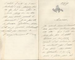 SAINT LO HARAS DE SAINT LO  LETTRE DOUBLE ANNEE 1899 SIGNE DU COMTE GUY DE TERROS - Unclassified