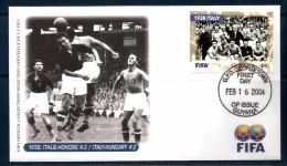 1938 ITALIA - UNGHERIA  Busta Ufficiale Fifa  FDC - Coppa Del Mondo
