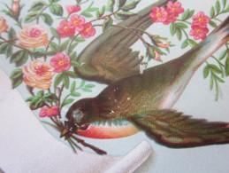 1885 CARTE POSTALE (amincie) MINI FORMAT CHROMOS IMAGES  MIGNONNETTE Souvenir Hirondelle MURIFSE GEORGES - Imágenes Religiosas