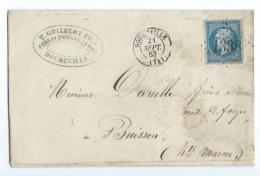 LETTRE 20 C  EMPIRE  DOUDEVILLE  A BUISSON  GC - 1849-1876: Klassieke Periode