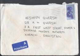 Denmark Airmail 1998 Opening Postal Museum Commemorative Postal History Cover Sent To Pakistan. - Danimarca