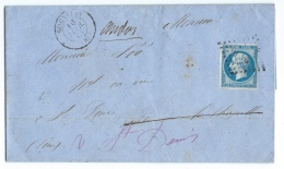 LETTRE 20 C  EMPIRE  N°14 SEIGNELAY   A SAINT DENIS   GC - 1849-1876: Période Classique