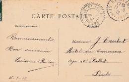 Boitier Facteur Type 1884 - OYE ET PALLET ( Doubs ) + Cachet Perlé  REALCAMP- 3 Scan