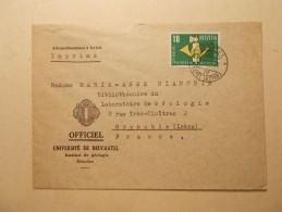 Marcophilie - Lettre Enveloppe Cachet Oblitération Timbres - SUISSE - 1959 (242) - Suisse