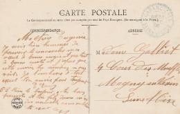 Boitier Facteur Type 1884  - GARENCIERES (Yvelines)  - Cachet Bleu - 3 Scan