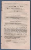 1879 BULLETIN DES LOIS - SEINE ET MARNE FORET DE BARBEAU - OCTROI DOUARNENEZ / PLOUMOGUER - AUROUER 03 ALLIER - CALAIS - Decrees & Laws