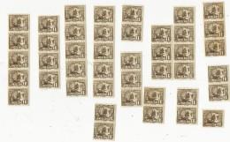 43 Timbres Neufs Avec Gomme-la Jonque-TB état - Unused Stamps