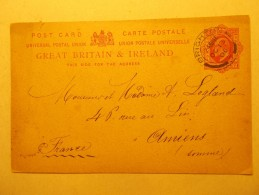 Marcophilie - Lettre Enveloppe Cachet Oblitération Timbres - ROYAUME UNI  - Entier Postal 1906 (248) - Briefe U. Dokumente
