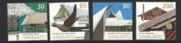 """Vanuatu YT 1043 à 1046 """" Architecture """" 1997 Neuf** - Vanuatu (1980-...)"""