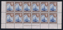 BERMUDA: SG 110 + 111a In Lowe Sheet Large Pains, Mostly MNH/** Postfrisch - Bermuda