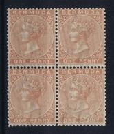 BERMUDA: SG 2  Block Of 4, 2 X  MNH/** Postfrisch And 2 X MH/*  Cat Value UKP 1800 Approx   1865 - Bermuda