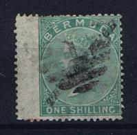 """BERMUDA: SG 13b  /13 B  Mi Nr 7 3d On 1 Sh Green """"P""""P Same As """"R"""" Used Wide Margins - Bermuda"""