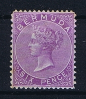 BERMUDA: SG 6  Mi  4 Ab   MH/* Falz/ Charniere  1865  WM CC Dull Purple