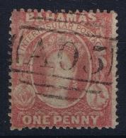 BAHAMAS:  SG 3  Mi Nr 2 , Perf 14-16 Very Fine Used Small Thin  Cancel  A05 1860 - Bahamas (1973-...)
