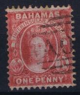 BAHAMAS:  SG 9  Mi Nr 2 C , Perf 11.5 -12  1862 1d Lake No WM Nice Colour And Part Cancel AO5 - Bahamas (1973-...)