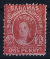 BAHAMAS:  SG 22  Mi Nr 5 Aa Carmine Lake , Perf 12,5  1863 Watermark CC MH/* Falz/ Charniere - Bahamas (1973-...)