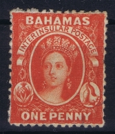 BAHAMAS:  SG 25  Vermilion  , Perf 12,5  1863 Watermark CC MH/* Falz/ Charniere - Bahamas (1973-...)