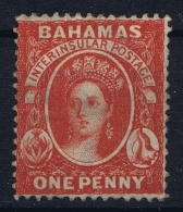 BAHAMAS:  SG 33  Mi 5 Cb  , Perf 14  1877 Watermark CC MH/* Falz/ Charniere - Bahamas (1973-...)