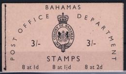 BAHAMAS:  Booklet SB2  1961 Complete MNH/**  3 Shilling - Bahamas (1973-...)
