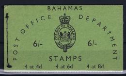 BAHAMAS:  Booklet SB3  1961 Complete MNH/**  6 Shilling - Bahamas (1973-...)