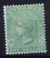 BAHAMAS:  SG 39 B   Mi 8c   MH/* Falz/ Charniere Watermark CC  Thin Spot + Signed 1863 - Bahamas (1973-...)