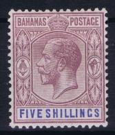 BAHAMAS:  SG 124  Mi 86  MH/* Falz/ Charniere  1921 - Bahamas (1973-...)