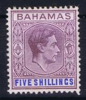 BAHAMAS:  SG 156  Mi 118a   Lilac And Blue  MH/* Falz/ Charniere  1938 - Bahamas (1973-...)