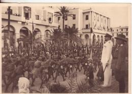 """307-Libia-Ex Colonia Italiana-Militaria-Divisione """"Libia""""-I Battaglioni Sfilano Davanti Al Maresciallo Italo Balbo-New - Libia"""