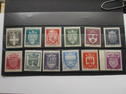 1942 : TIMBRE No. 553 à 564 , Armoiries De Villes , 2 Iéme Série , XX , Timbre En Très Bon état , - France