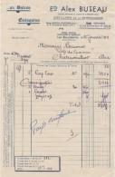Facture  - Distillerie De La Berrichonne- Etablissement  Alex. BUTEAU - Les Bourdelins (cher) - 1900 – 1949