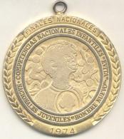 GRAN MEDALLA FINALES NACIONALES 1974 COMPETENCIAS NACIONALES INFANTILES EVITA - NACIONALES JUVENILES HOMBRE NUEVO - Firma's
