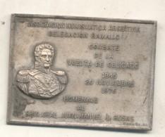 ASOCIACION NUMISMATICA ARGENTINA DELEGACION RAMALLO COMBATE DE LA VUELTA DE OBLIGADO 1845-1975 HOMENAJE AL BRIGADIER GEN - Firma's