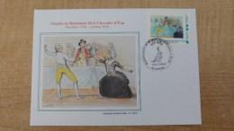 Timbre Collector Montimbreamoi + Son Cachet 1er Jour + Illustration De Roland Irolla: Chevalier D'Eon à Tonnerre - Commemorative Postmarks