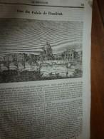 1834 LM : Palais De L'INSTITUT à Paris;Le Giroflier;Le TADORNE (oie-canard); Gravure --> Vue De L'ILE De MALTE; Léon X - Vieux Papiers