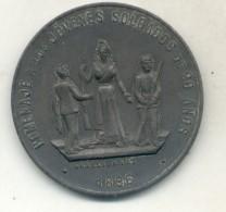 HOMENAJE A LOS JOVENES SOLDADOS DE 20 AÑOS RARISIMA MEDALLA ANIVERSARIO PRIMERA CONSCRIPCION ARGENTINA 1895-1896 - Firma's