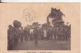 6-Congo Francese-Fort Sibut-Ricreazione Indigena-v.8-marzo 1925 (mese Capovolto) X Ragusa-Sicilia - Congo Francese - Altri