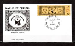 "WALLIS ET FUTUNA 1997 : Enveloppe 1er Jour "" KARATE A WALLIS "". N° YT 508. MATA-UTU Le 15-10-1997. Parfait état. FDC"