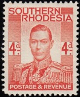 SOUTHERN RHODESIA - Scott #45 King Gerorge VI / Mint LH Stamp - Southern Rhodesia (...-1964)
