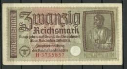 Deutschland Occupation Bank Note 20 Reichsmark Serie H - [ 9] Territoires Allemands Occupés