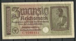 Deutschland Occupation Bank Note 20 Reichsmark Serie C - [ 9] Duitse Bezette Gebieden
