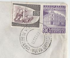 1960 Air Mail VENEZUELA COVER  Stamps PETROLEUM  Etc  To GB Oil Minerals Energy - Erdöl