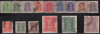 """Simplified, Service Used India, Type """"Satyameva Jayate"""", 15 Diff., 1976, 1978, 1981, (Sample Image) Official - Timbres De Service"""